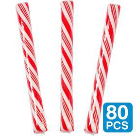 "Cherry Red 5"" Candy Sticks (80 Pack)"