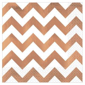 Chevron Rose Gold Lunch Napkin (16)
