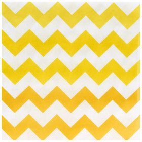 Chevron Yellow Lunch Napkins