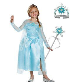 Child Frozen Elsa Costume Kit Deluxe