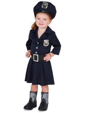 Child Police Girl Costume