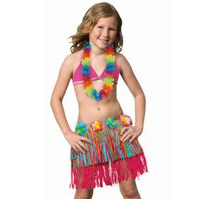 Child Rainbow Hula Skirt