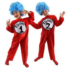 Childs Deluxe Dr. Seuss Thing 1 Or 2 Cos