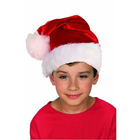 Child's Plush Santa Hat (1)