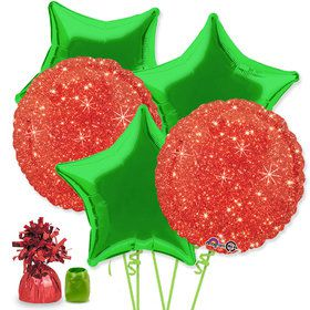 Christmas Star Balloon Bouquet Kit