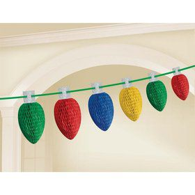 Christmas Lightbulb Garland