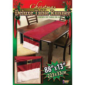Christmas Santa Suit Table Runner
