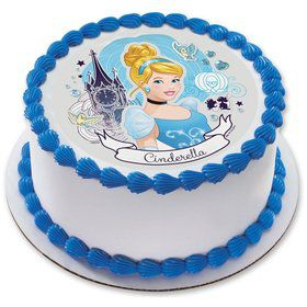 "Cinderella 7.5"" Round Edible Cake Topper (Each)"