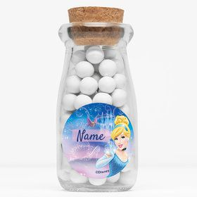 "Cinderella Personalized 4"" Glass Milk Jars (Set of 12)"