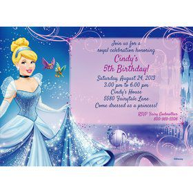 Cinderella Personalized Invitation (Each)