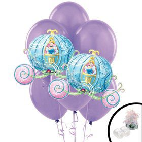 Cinderella Princess Carriage Jumbo Balloon Bouquet