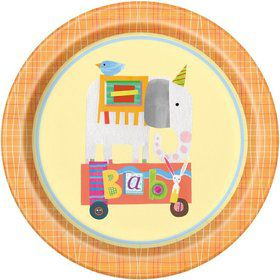 """Circus Animal 9"""" Lunch Plate (8)"""