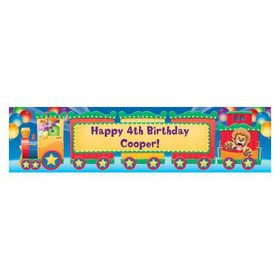 Circus Party Personalized Banner (each)