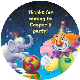 Circus Party Personalized Stickers (sheet of 12)