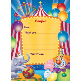 Circus Time Blowouts 8 Pack Carnival Big Top 1st Birthday Party Supplies