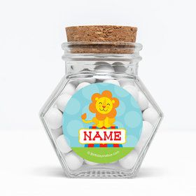 """Circus Personalized 3"""" Glass Hexagon Jars (Set of 12)"""