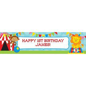 Circus Personalized Banner (Each)