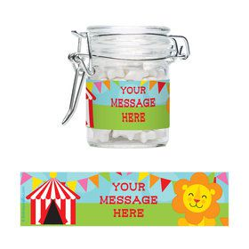 Circus Personalized Glass Apothecary Jars (10 Count)