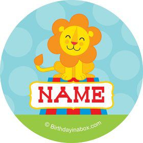 Circus Personalized Mini Stickers (Sheet of 24)
