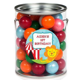 Circus Personalized Paint Can Favor Container (6 Pack)