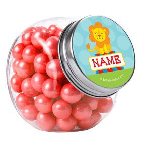 Circus Personalized Plain Glass Jars (10 Count)