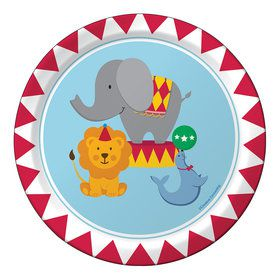 "Circus Time 7"" Cake Plates (8 Count)"