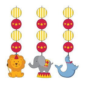 Circus Time Hanging Cutout Decorations (3 Count)