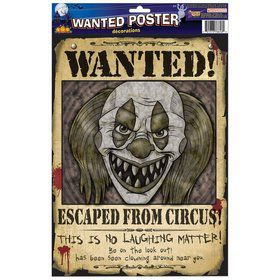Clown Wanted Poster