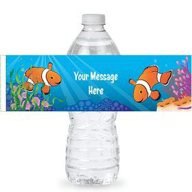 Clownfish Personalized Bottle Labels (Sheet of 4)