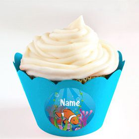 Clownfish Personalized Cupcake Wrappers (Set of 24)