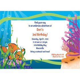 Clownfish Personalized Invitation (each)