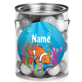 Clownfish Personalized Mini Paint Cans (12 Count)