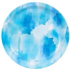 Coastal Sea Watercolor Dinner Plate (8)