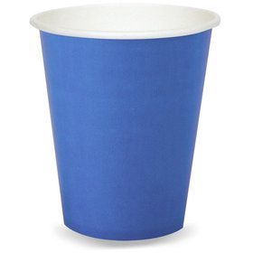 Cobalt Blue 9 oz. Paper Cups (24 Count)