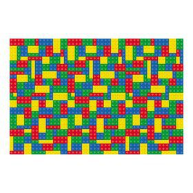Color Brick Party Backdrop Banner