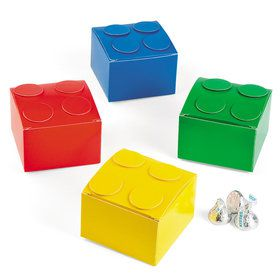 Color Brick Party Favor Boxes (12 Count)