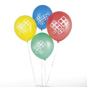 Color Brick Party Latex Balloon (12)