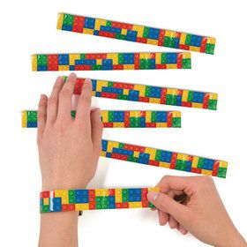 Color Brick Party Slap Bracelets (12)