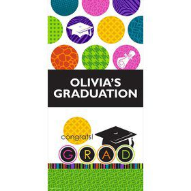 "Colorful Commencement Personalized Giant Banner 30x60"" (Each)"
