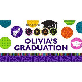 "Colorful Commencement Personalized Giant Banner 60x30"" (Each)"