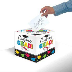 Colorful Grad Greeting Card Holder Box (Each)
