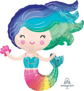 "Colorful Mermaid 30"" Balloon (1)"