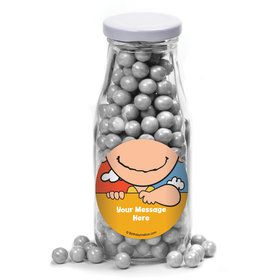 Comic Strip Kids Personalized Glass Milk Bottles (12 Count)