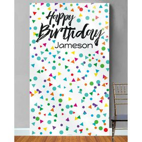 Confetti Birthday Photo Backdrop (Each)