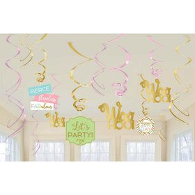 Confetti Fun Swirl Decorations (12)