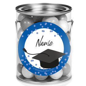 Confetti Grad Blue Personalized Mini Paint Cans (12 Count)