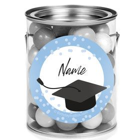 Confetti Grad Light Blue Personalized Mini Paint Cans (12 Count)