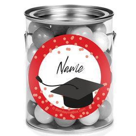 Confetti Grad Red Personalized Mini Paint Cans (12 Count)
