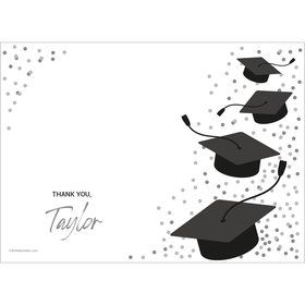 Confetti Grad Silver Personalized Thank You (Each)