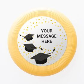 Confetti Grad Yellow Personalized Mini Discs (Set Of 12)